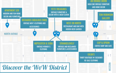 Discover the WoW District {a map}